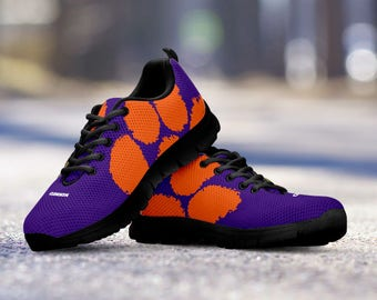 Clemson Tigers Fan Custom Unofficial Running Black Shoes/Sneakers/Trainers - Ladies, Mens, Kids Sizes, collector, gift