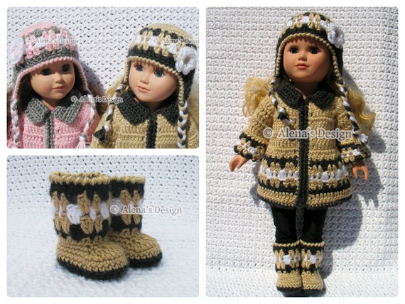 Winter Coat and Accessories Crochet Pattern