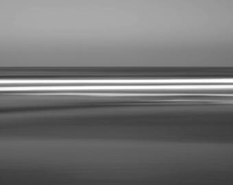 Black and white photography, Beach, Abstract fine art photography, large limited edition print, seascape, long-exposure, beach art, Sway