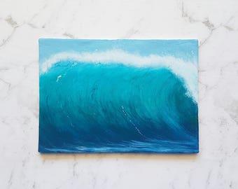 Wave Painting, Ocean Painting,  Seascape, Landscape, Beach, Seafoam, Blue, Green, Birthday Gift, Boho, Water, Home Decor, Acrylic, Gift Idea