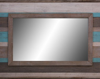 Rustic Hand Finshed Mirror