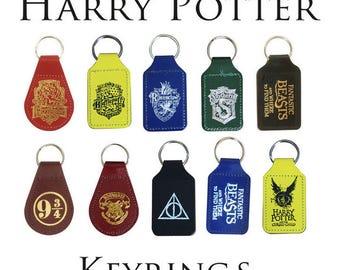 Harry Potter Keyrings - Hogwart Slytherin Griffindor Ravenclaw Hufflepuff
