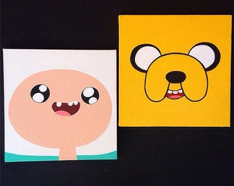 Adventure Time Paintings On Canvas- Wall Art- Jake The Dog, Finn The Human, Marceline The Vampire, Ice King, Princess Bubblegum