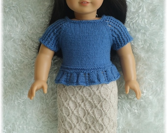 American Girl - Top and Skirt (knitting pattern)