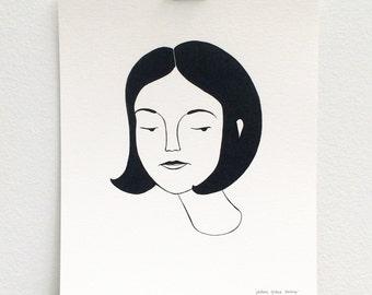 portrait / black and white print