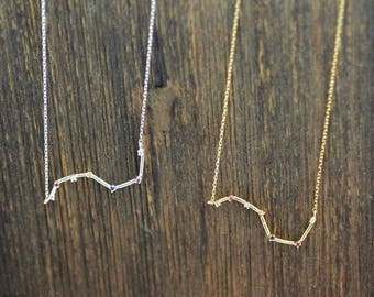 925 sterling silver Delicate Big Dipper Necklace, Star sign Necklace, Seven Stars Necklace ,Constellation Necklace