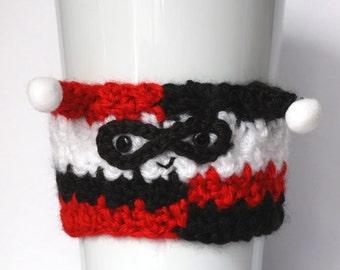 Crochet Harley Quinn Coffee Cup Cozy
