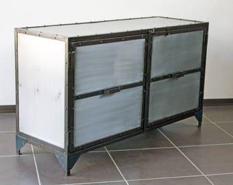 Metal industrial sideboard