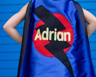 SPARKLE FULL NAME Personalized Sparkle Superhero Cape - High quality sparkle design - fast shipping - boy birthday gift