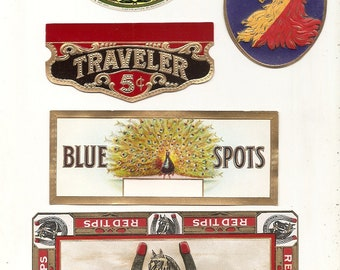 14 Old CIGAR LABELS