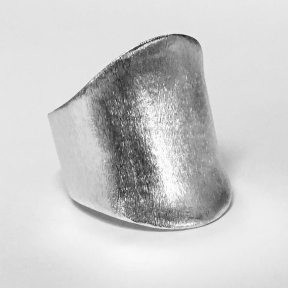 Sanded style Thumb Ring in sterling silver 925