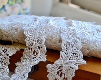 Ivory lace trim I Lace trim I Vintage lace trim I Bridal  lace trim I Wedding lace trim I Lace I Trim I Shabby chic lace