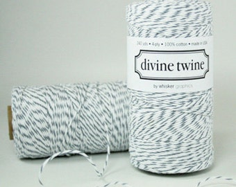 Gray Twine, Oyster Gray Bakers Twine - 240 yards Spool Baker String