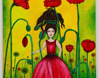 Original Painting - Poppy