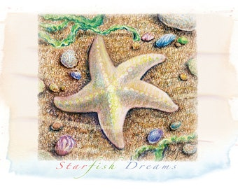 starfish – A7 notecard 5-Pack