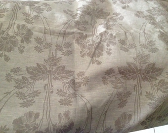 Vintage French  fabric. Sewing projects. French gray fabric. French vintage fabric. Fabric pattern.