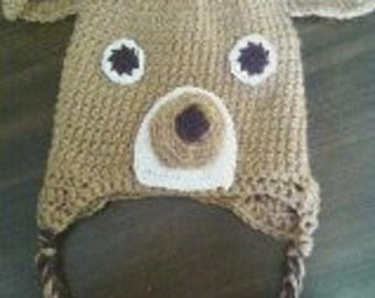 Little Buck Deer crochet hat