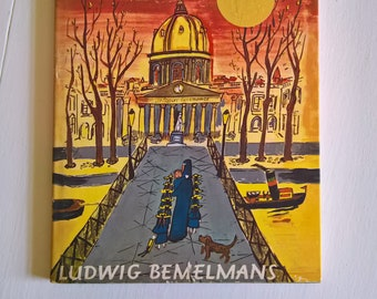 Madeline's Rescue by Ludwig Bemelmans --- Vintage Children's Picture Book --- Classic Paris Fierce Little Girl Bedtime Story Young Readers