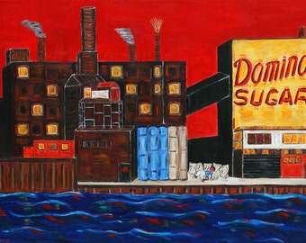 Domino Sugar Factory-Greenpoint, Brooklyn, East River