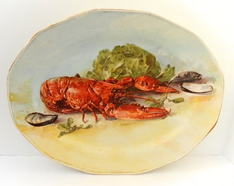 Theodore Haviland Limoges Porcelain French Vintage Lobster Platter (C223)