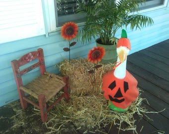 Goose Clothing  -  Pete The Pumpkin Goose Outfit for Plastic and Concrete Lawn Goose