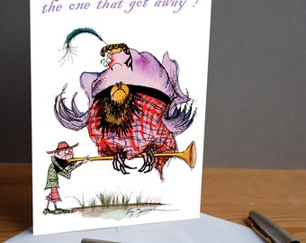 The One that Got Away ! -  fun scottish gillie card from tony fernandes design