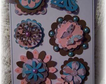 Layered Cardstock Scrapbook Embellishment,Journal.Handmade Card