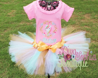 Unicorn Tutu Set- Unicorn Dress - Unicorn Tutu