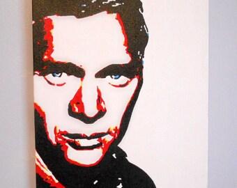 Steve McQueen Pop Art Acrylic Painting 25cm x 20cm Modern Art