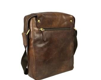 Mens messenger bag, Leather bag for men, Leather messenger, Shoulder bag men, Brown messenger bag, leather travel bag - Song of Solomon
