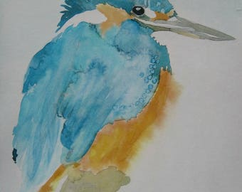 Kingfisher Watercolour digital print
