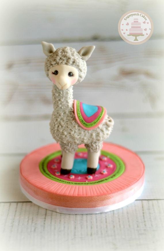 Fondant Llama Alpaca Cake Topper For Baby Shower
