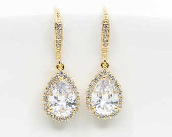 Earrings Gold-plated Wedding Jewelry