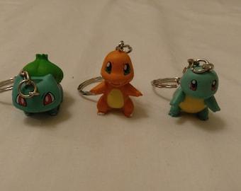 Free Shipping Pokemon Key Chain, Charmander Key Chain, Squirtle Key Chain, Bulbasaur Key Chain