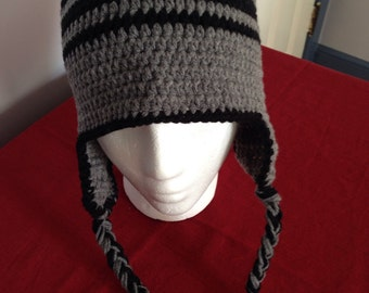 Beanie with Ear Flaps - Men's large