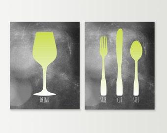 Dining Room Art Living Prints Set Of 3 Modern