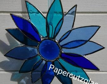 stained glass flower suncatcher