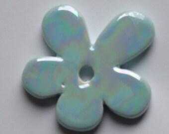 FLOWER CERAMIC BLUE 50MM