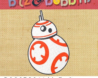 STAR WARS BB8 Digital Embroidery Design