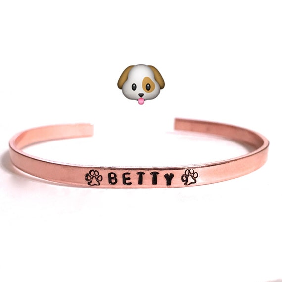Custom Dog Jewelry. Custom Hand stamped bracelet. Dog Lover. Dog Bracelet. Dog memorial. Dog mom. Dog dad. Cat Lover.