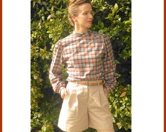 Brown Checkered blouse