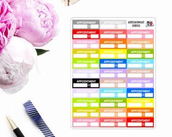 Multi-Color // Appointment Labels