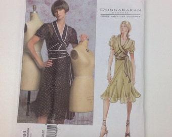 Vogue 2784 Donna Karan Dress Sewing Pattern Plus Sz Sz 18 20 22