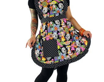 Day of the Dead Novios Apron
