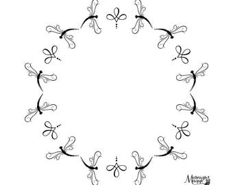 Delightful Dragonfly Monogram Frame