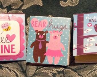 Mini Valentine's Journals (set of 3)