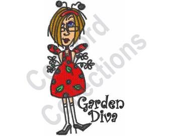 Gardener - Machine Embroidery Design, Garden Diva, Gardening