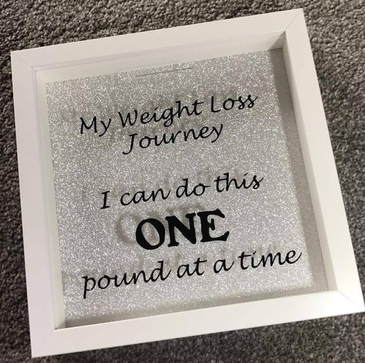 Weight Loss Money Saving Drop Box Frame