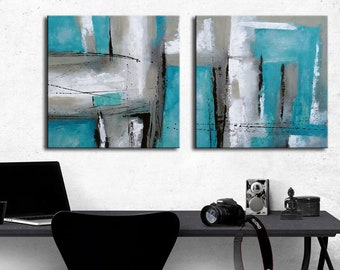 ABSTRACT PAINTING   Modern Home Wall Decor Painting Canvas Art (2x60x60cm)  (2x24x24inch)