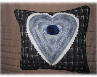 Small decorative heart pillow